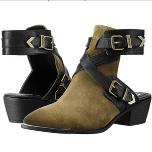 Sam Edelman Circus Hallie Green Strappy Booties